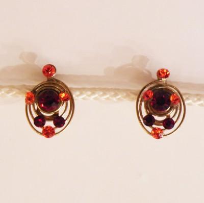 Boucles d'oreilles Royal rouge/orange
