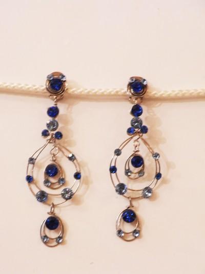 Boucles d'oreilles Royal Grand format bleu nuit